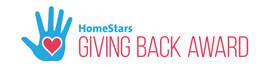 HomeStars Giving Back Award Winner